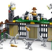 DINO Brick JURASSIC WORLD Raptor Cage Blocks Lego Kandang Dinosaurus