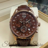 Tag heuer mikrograph 100 brown rosegold