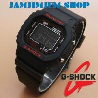 JAM TANGAN G-SHOCK GLS 5600 FULL BLACK BERTULIS RED MURAH