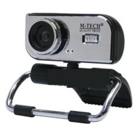 M Tech Web Cam WB 100 WebCam Clip USB 2.0 5 MP, Built In Microphone