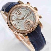Aigner Bari Diamond Rosegold Blue Leather