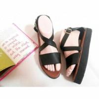 Stripe x / Sepatu Wanita / Sandal Wanita / Docmart / Platform