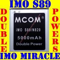 Baterai Batrai Batere Batre Imo S89 Miracle Double Power M COM