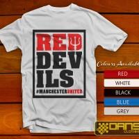 harga Kaos Cowok / Cewek - T Shirt - Kaos Red Devil Manchester United Logo Tokopedia.com