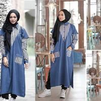 Laluna tunik deep blue/maxi dres/model gamis/model hijab 2016