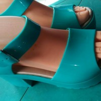sendal jely shoes wedges