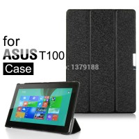 Asus Transformer Book T100TA Leather Flip Book Case Cover Sarung Kulit