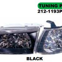 HEAD LAMP + CORNER LAMP MOBIL COROLLA AE100 1992 (BLACK)