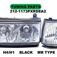HEAD LAMP MOBIL + CORNER LAMP LANDCRUISER 1990 FJ82 (CRYSTAL-BLACK)