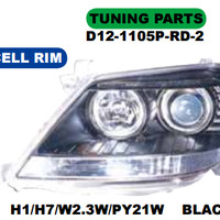 HEAD LAMP MOBIL / HEAD LAMP MOBIL FORTUNER 2004 (BLACK)