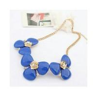Kalung Korea / Aksesories Korea / Kalung Bunga Biru