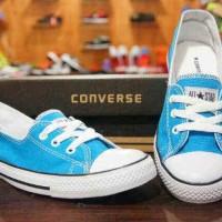 Sepatu casual wanita converse all star made in indonesia biru muda