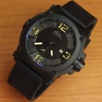 Jam Tangan Pria Quicksilver Date Chrono Black Leather