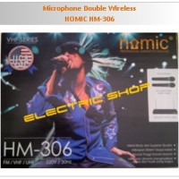Microphone Double Wireless - HOMIC HM-306