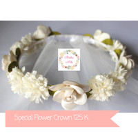Jual Special Flower Crown Veil Bridal Shower Murah