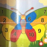 Puzzle blok block kayu Butterfly kupu-kupu omocha toys