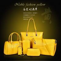 Tas Import 6 In 1 Set Dompet Clutch Handbag Slempang