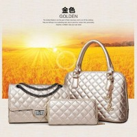 Tas Import 3 In 1 Set Dompet Clutch Handbag Slempang