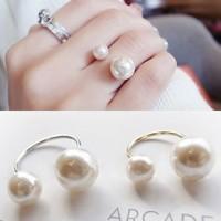 cincin dua mutiara / double pearl ring JCI001