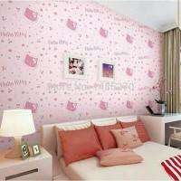 Wallpaper Sticker Hello Kitty Head 45 cm x 10 Mtr | Wall Stiker