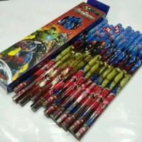 Pensil Raut Gambar Avenger, Miki, Frozen, Helo Kitty, Cars
