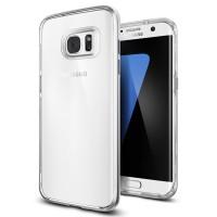 Spigen Samsung Galaxy S7 edge Case Neo Hybrid Crystal Satin Silver
