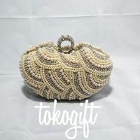 harga tas pesta / clutch / tas tangan / dompet diamond + mutiara Tokopedia.com