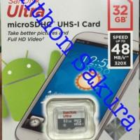 Jual MicroSD Sandisk Ultra class 10 32gb 48mb/S Garansi Resmi Original Murah
