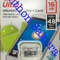MicroSD Sandisk Ultra class 10 16gb 48mb/S Garansi Resmi Original