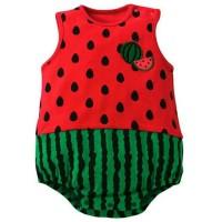 Baju Bayi Perempuan Jumpsuit Strawberry