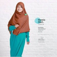 harga gamis syar'i polos by hijab alila Tokopedia.com