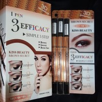 BROWS SECRET - 3D Kiss Beauty 3in1: Eyebrow Pencil+Powder+Mascara Alis
