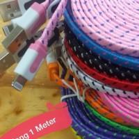 Kabel Data Charger Iphone Model Tali Sepatu Panjang 1meter
