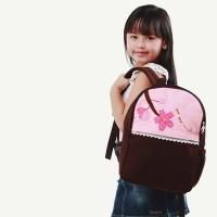 Jual MACHIKO Heejou - Tas Ransel Anak Perempuan - Backpack Kanvas Bunga Murah