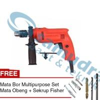 Mesin Bor Beton MAKTEC MT 80 B + Mata Bor + Mata Obeng + Sekrup