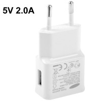 Travel Adapter Charger 5V 2.0A for Samsung Galaxy Note II - White