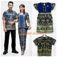 Sarimbit / Pasangan / Couple / Keluarga / Seragam Batik 1460 Biru XL