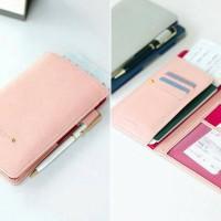 passport wallet dompet passport anti skimming organizer travelling