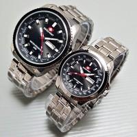 Jam Tangan Couple - Swiss Army Couple Luxury FullBlack