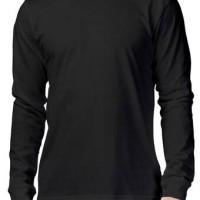 Jual Kaos Polos O Neck Lengan Panjang Hitam Size L Jakarta Barat Tees Shirt Tokopedia
