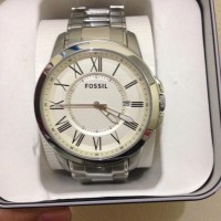 JAM TANGAN FOSSIL COWO SILVER Mens Watch [ORIGINAL FOSSIL WATCH]