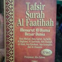 Buku Tafsir Surah Al Faatihah Menurut 10 Ulama Besar Dunia