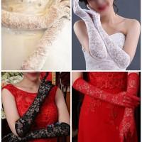 Jual sarung tangan gloves import brukat kebaya Gaun Pengantin Wedding Dress Murah