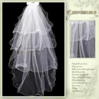 Jual Veil Slayer Wedding Dress Gaun Pengantin import 4 tumpuk mutiara Murah