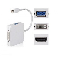 Cable Mini Display Port To VGA / DVI / HDMI Converter