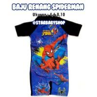 Baju Renang Bayi Anak Spiderman