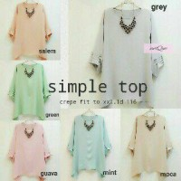 simple top jumbo / baju wanita warna pastel