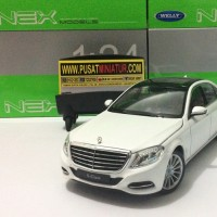 MERCEDES BENZ S-CLASS (PUTIH) - SKALA 1:24 - WELLY (DIECAST-MINIATUR)