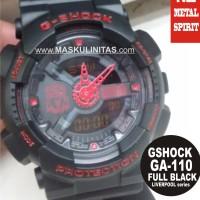Jam Tangan Casio G-Shock GA-110 Liverpool Black