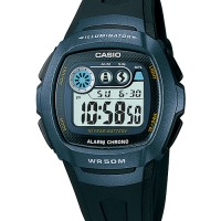 Casio Jam Tangan W210-1b Untuk Pria Sporty Elegan Vintage - biru - ori